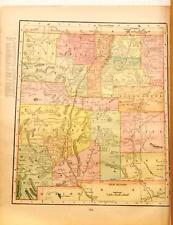 Beautiful Original 1899 New Mexico Territories Large Color Map/10x14