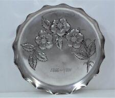 Tufts Art Nouveau Silver Plate Flower Motif Dish