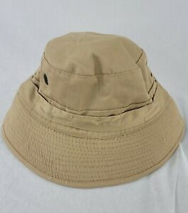 Vintage Mill Valley Size M Banana Republic Bucket Tan Fishing Hat 80s 90s vented