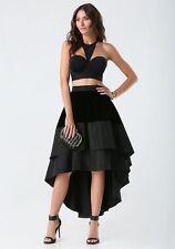 NWT bebe Velvet High-Low Skirt Size 2