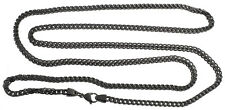 """Aqua Master Men's Black PVD Coated Stainless Steel 40"""" Chain 4mm Wide"""