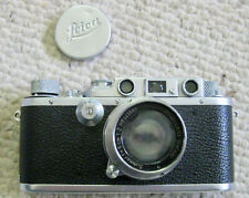 Vintage Leica D.R.P III b, 1938 with Case and Lens - Good Condition