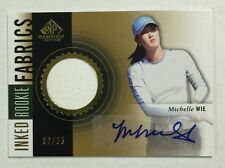 Michelle Wie 2014 Upper Deck Sp Game Used Inked Rookie Fabrics #32/35