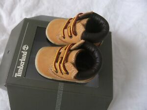Timberland Crib Bootie Baby Wheat  Ankle Boots Size UK 0 worn once Box AUTHENTIC