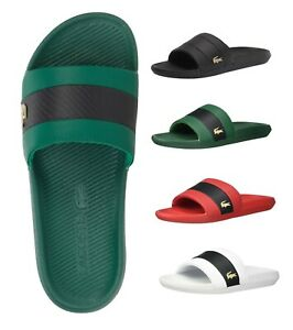 LACOSTE MEN'S SLIP ON CROCO SLIDE 0120 1 SANDALS FLIP FLOPS SLIPPERS SHOES