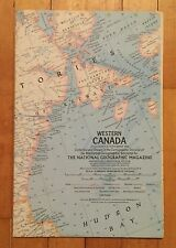 National Geographic Magazine Supplement Map September 1966 Western Canada