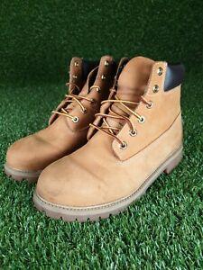 Mens Timberland Wheat Premium 6 Inch Nubuck Leather Boots Size UK 6.5