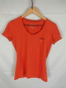 CALVIN KLEIN MAGLIA CASUAL Maniche Corte Maglia COTONE T-Shirt Polo Tg XL Donna