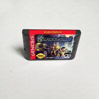 Shadowrun (1994) 16 Bit Only Game Card For Sega Genesis Mega Drive System