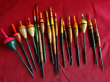 A GOOD COLLECTION OF VINTAGE RIVER FISHING FLOATS