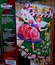 "Bucilla ""SUGAR PLUM FAIRY"" Felt Christmas Stocking Kit Factory Direct Angel OOP"
