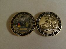 CHALLENGE COIN US ARMY 1207TH HOSPITAL MEDICAL 141 MEB TASK FORCE FALCON KFOR