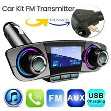 Transmisor FM Bluetooth Reproductor MP3 Mechero Coche Radio TF LCD Cargador USB