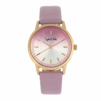 Sophie and Freda San Diego Leather-Band Watch - Pink