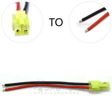 Mini Tamiya male Connector Silicone Wire With 10cm 18 AWG