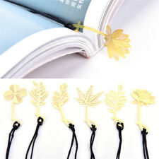 3X book mark markers clips fiction non-fiction metallic page marker book gift GE