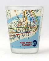 NEW YORK CITY SUBWAY MAP SHOT GLASS SHOTGLASS