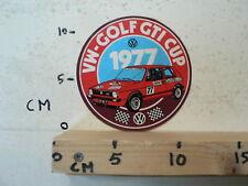 STICKER,DECAL VOLKSWAGEN VW  GOLF GTI CUP 1977 BOSCH CASTROL MARLBORO NO 77 B