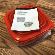 TUPPERWARE  Stuffables Microwaveable Storage Container Red W/ Lid NEW 1.2 Litres