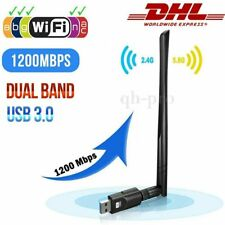 Dual-Band WIFI WLAN Stick USB Adapter Dongle 2.4GHz 5,8 GHz 1200Mbps mit Antenne