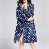 Waterproof Lady Raincoat Outdoor Dotted Travel Hooded Long Rain Coat Jacket