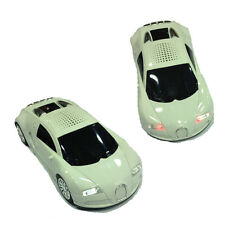 Speaker in car sporty white with lights Led functioning various colors and