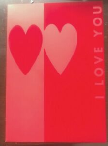 Papyrus Rare out-of-print Valentine's Day Card:  Hearts on Velvet  I Love You