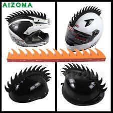 Motorcycle Helmet Mohawk Helmets Sticker Dirt Bike Sawblade Dragon Tooth Orange