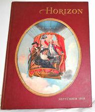 1958 HORIZON Magazine of the Arts September v.1 #1 Hardcover VG+