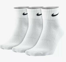 Nike Performance 3 Pairs Mens Lightweight Sports Socks White Size 8-11