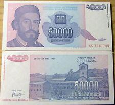 """BILLETE """"  YUGOSLAVIA  """"  50000  DINARA   AÑO :1993  UNC  PLANCHA AC 7757745"""