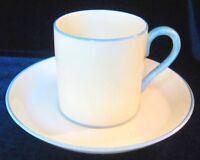 Crown Staffordshire Demitasse Cup & Saucer - Mottled Blue Handle & Trim England