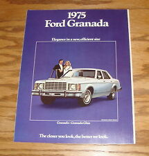 Original 1975 Ford Granada Sales Brochure 75 Ghia