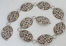Vintag Bernice Chavez sterling silver Navajo fine concho belt Hopi overlay style