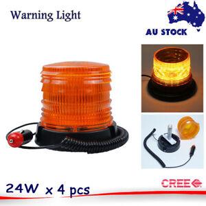 4PCS LED Flashing Strobe Light LED Beacon Warning light ORANGE SAFETY Emergency