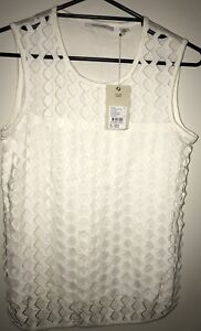 COUNTRY ROAD XXS off White Tank Top *BNWT* RRP $99.95 Combined Post