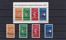 Bund BRD 1972 Michel Block 8 XX. Olympische Spiele + Einzelmarken postfrisch **