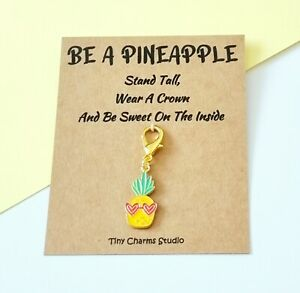 Be A Pineapple Charm Stitch Marker Motivational Gift planner charm gift for her
