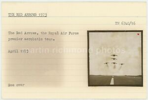 RAF Red Arrows 1973 Ministry File Card & Photos, HE769