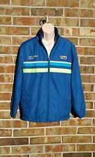 Men's Fila Tennis Sony Ericsson Open Warm Up Jacket Blue & Green size Small