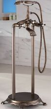 New Antique Bronze Floor Bathtub Tub Faucet Fixture w/ Handheld Shower