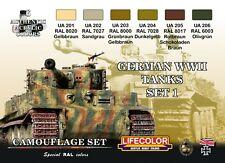 LIFECOLOR LFCS01 GERMAN TANKS WWII - SET 1