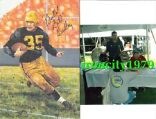 Pittsburgh Steelers BILL DUDLEY autograph signed Goal Line Art Card deceased