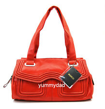MIMCO OFFBEAT LEATHER DAY BAG IN RUSSIAN RED BNWT RRP$399