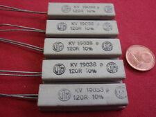 RARO! alta carico resistenza 120 Ohm cemento 9w 9x10x38mm 5x 24892