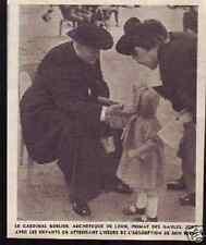 1939  --  VICHY  LE CARDINAL GERLIER EN CURE  D608