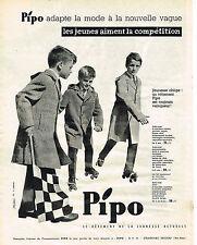 PUBLICITE ADVERTISING 0314   1959   PIPO  mode enfants manteaux