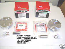 WISECO 9891M10795 9892M10795 HARLEY DAVIDSON VROD 1320cc 14:1 FORGED PISTONS