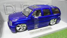 CADILLAC ESCALADE TUNING bleu 1/18 JADATOYS DUB CITY BIG BALLERS 63102-p voiture