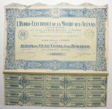 Action de 500 francs Société hydro électrique des chutes de la Bigorre 1931